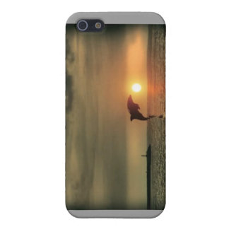 Dolphin Sunset - Iphone Case Case For The iPhone 5