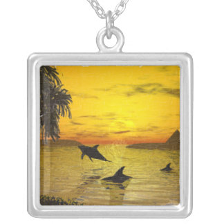 Dolphin Sunset Necklace