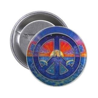 Dolphin Sunset Peace 6 Cm Round Badge