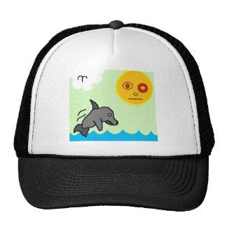 dolphin swim hat