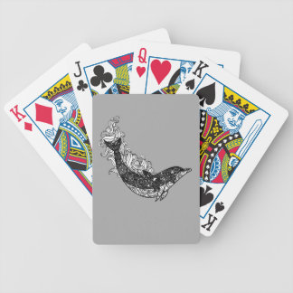 Dolphin Swimming Bicycle Playing Cards