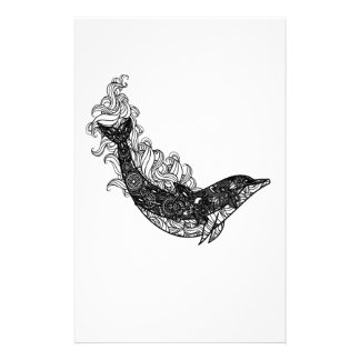 Dolphin Swimming Personalised Stationery