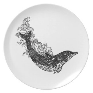 Dolphin Swimming Plate