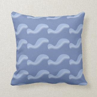 Dolphin swirl throw pillow