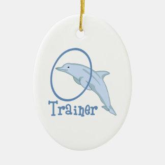 Dolphin Trainer Ceramic Ornament