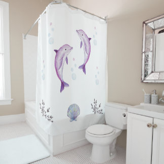 Dolphin Twins Shower Curtain