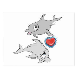 Dolphin Valentine's Day Postcard