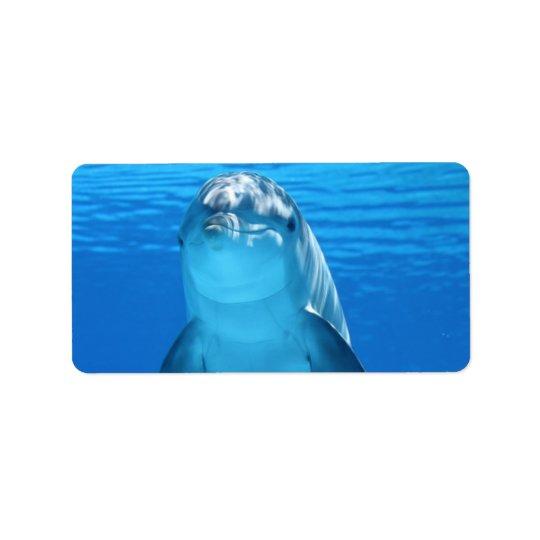 Dolphin Water Beach Tropical Paradise Island Fish Address Label