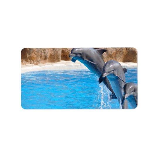 Dolphin Water Fish Beach Animal Party Destiny Address Label