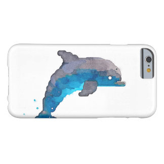 Dolphin Watercolor iPhone Case (White)