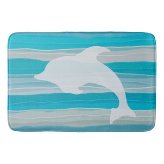 Dolphin&Waves, Gel Art Bath Mat