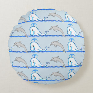 Dolphin & Whale Pillow