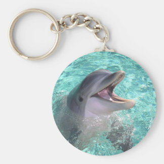 Dolphin with open mouth key ring