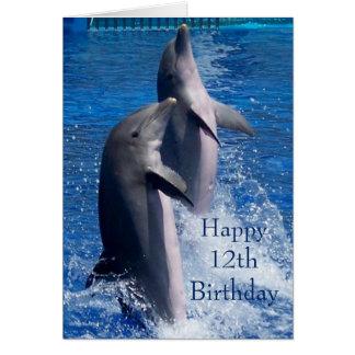 Dolphins 12th Birthday Card