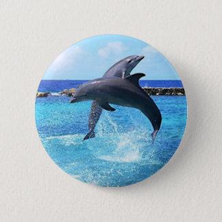Dolphins 6 Cm Round Badge