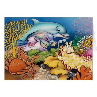 Dolphins and Friends Card