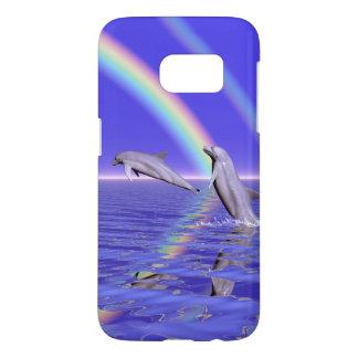 Dolphins and Rainbow