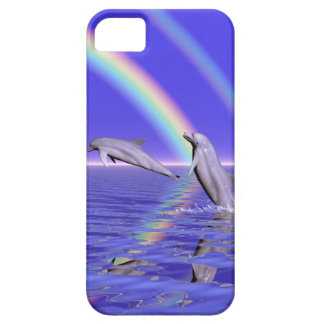 Dolphins and Rainbow iPhone 5 Cover