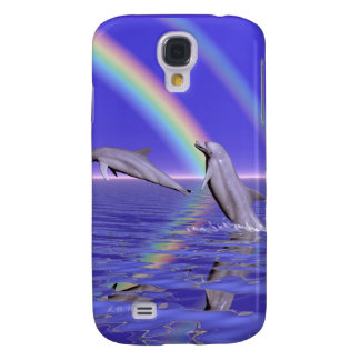 Dolphins and Rainbow Galaxy S4 Cover