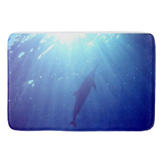Dolphins and sunlight in Hawaii. Bath Mat