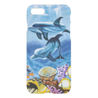 Dolphins and Tropical Fish Art iPhone 7 Case