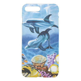 Dolphins and Tropical Fish Art iPhone 7 Plus Case