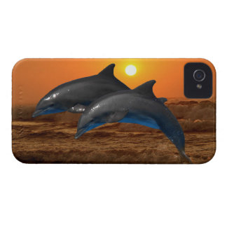 Dolphins at sunset iPhone 4 case