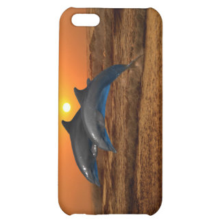 Dolphins at sunset cover for iPhone 5C