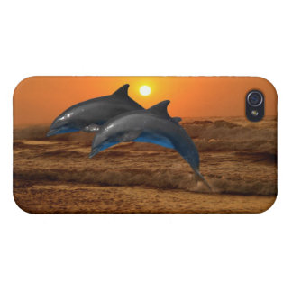 Dolphins at sunset iPhone 4/4S covers