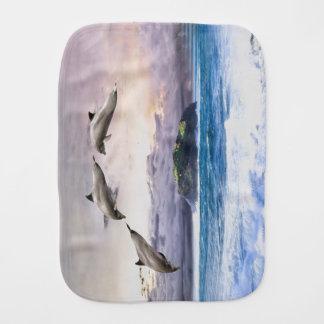 Dolphins Burp Cloth