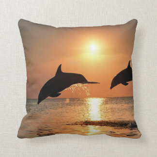 Dolphins by Sunset Cushion