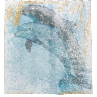 Dolphins Coastal Living | Shower Curtain
