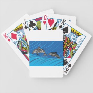 dolphins-color bicycle playing cards