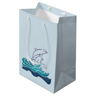 Dolphins Drawing Gift Bag
