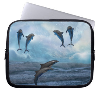 Dolphins fantasy laptop sleeve