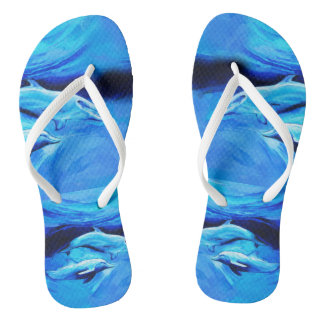 """""""Dolphins"""" flip flops with Slim Straps Thongs"""