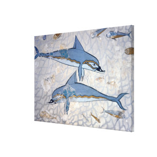 Dolphins (fresco) canvas print
