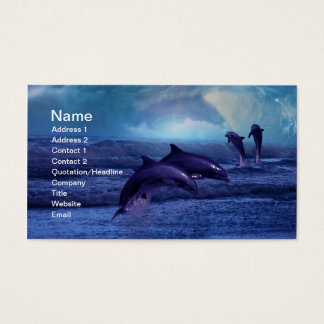 Dolphins fun and play business card