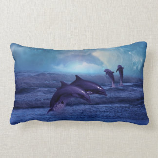Dolphins fun and play lumbar cushion