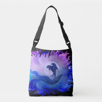 Dolphins in the Moonlight Crossbody Bag