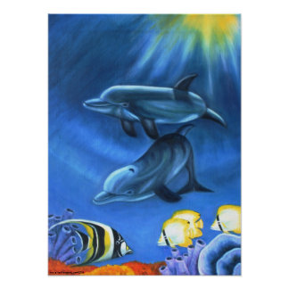 Dolphins In the Ocean II Poster