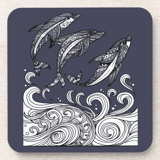 Dolphins Jumping Beverage Coaster
