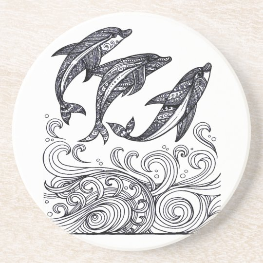 Dolphins Jumping Beverage Coasters