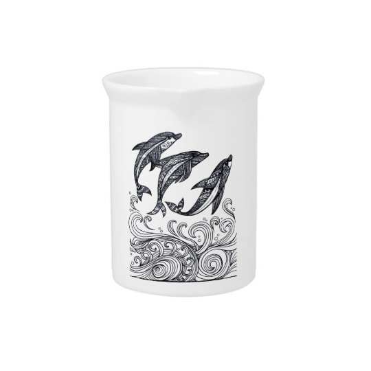 Dolphins Jumping Beverage Pitchers