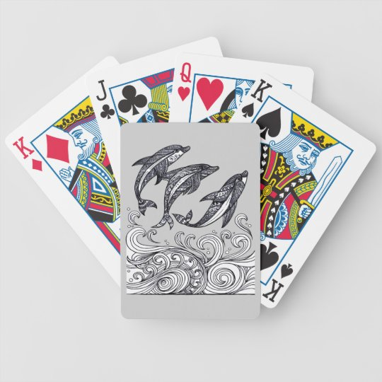 Dolphins Jumping Bicycle Playing Cards
