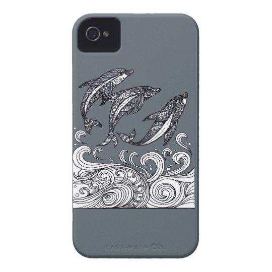 Dolphins Jumping Case-Mate iPhone 4 Case