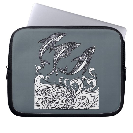 Dolphins Jumping Computer Sleeve