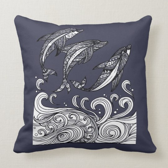 Dolphins Jumping Cushion