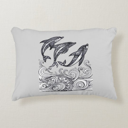 Dolphins Jumping Decorative Cushion