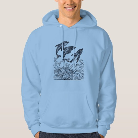 Dolphins Jumping Hoodie